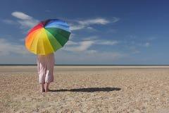parapluie de plage Photos libres de droits