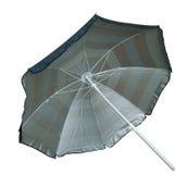 Parapluie de plage rayé Photos libres de droits