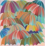 Parapluie de pluie multicolore Photos stock