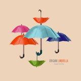 Parapluie de rouge d'origami illustration libre de droits