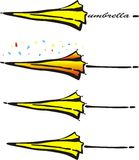 Parapluie de vecteur de couleur Image stock