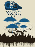 Parapluie de ville illustration libre de droits