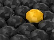 Parapluie différent de couleur illustration libre de droits