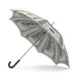 Parapluie du dollar Photo libre de droits