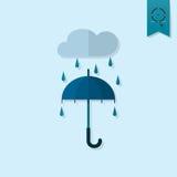 Parapluie et pluie Photo libre de droits
