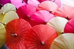 Parapluie fabriqué à la main en Thaïlande Photos libres de droits