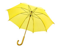 Parapluie jaune d'isolement Photographie stock libre de droits