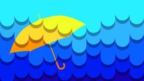 Parapluie Matte Wide de pluie Images libres de droits