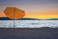 Parapluie orange Photographie stock