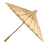 Parapluie oriental d'isolement Photo stock