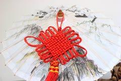 Parapluie peint à la main chinois Photographie stock libre de droits