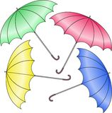 Parapluie quatre Photo stock