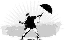Parapluie-révolution Hong Kong de révolution Image libre de droits