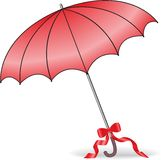 Parapluie rouge illustration stock