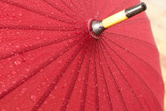 Parapluie rouge Photo libre de droits