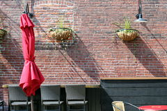 Parapluie rouge Images stock