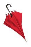 Parapluie rouge fermé au-dessus de blanc Image stock
