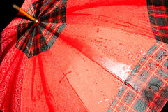 Parapluie rouge humide Photo libre de droits