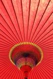Parapluie rouge japonais Photo stock