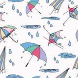 Parapluie sans couture de modèle Images libres de droits