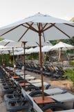 Parapluie sur la plage Images libres de droits