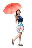 parapluie tropical de saison arénacée pluvieuse de plage Photos libres de droits