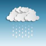 parapluie tropical de saison arénacée pluvieuse de plage Image stock