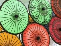 Parapluies asiatiques Photographie stock