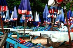 Parapluies bleus Images libres de droits