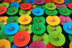 Parapluies colorés Image libre de droits