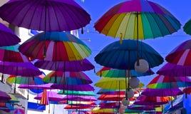 Parapluies colorés Images libres de droits