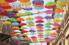 Parapluies 2 colorés Photo libre de droits