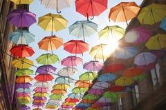 Parapluies 6 colorés Photographie stock libre de droits