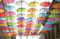 Parapluies 13 colorés Photos stock