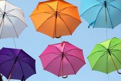 Parapluies 15 colorés Images stock