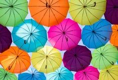Parapluies colorés Photos stock