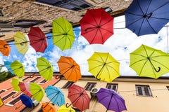 Parapluies colorés multi Photo libre de droits