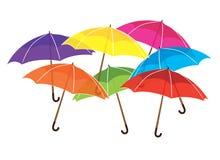 Parapluies d'arc-en-ciel Images stock