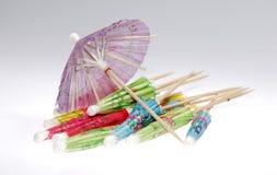 Parapluies de cocktail images libres de droits