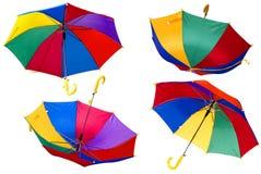 Parapluies de couleur Images libres de droits
