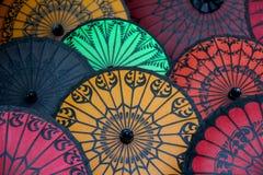 Parapluies de papier - Pathein, Myanmar Image libre de droits