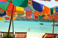 Parapluies de plage Photos stock