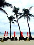Parapluies de plage Image libre de droits