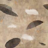 Parapluies de vol d'amusement Photographie stock libre de droits