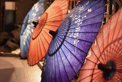4 parapluies japonais à Kyoto JapanClose-up images libres de droits