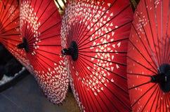 Parapluies japonais Images libres de droits