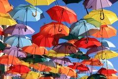Parapluies Madrid, Getafe, Espagne Photo stock