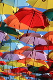 Parapluies Madrid, Getafe, Espagne Images stock