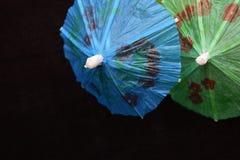 Parapluies minuscules de boissons Image libre de droits