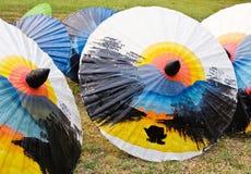 Parapluies peints Photo stock